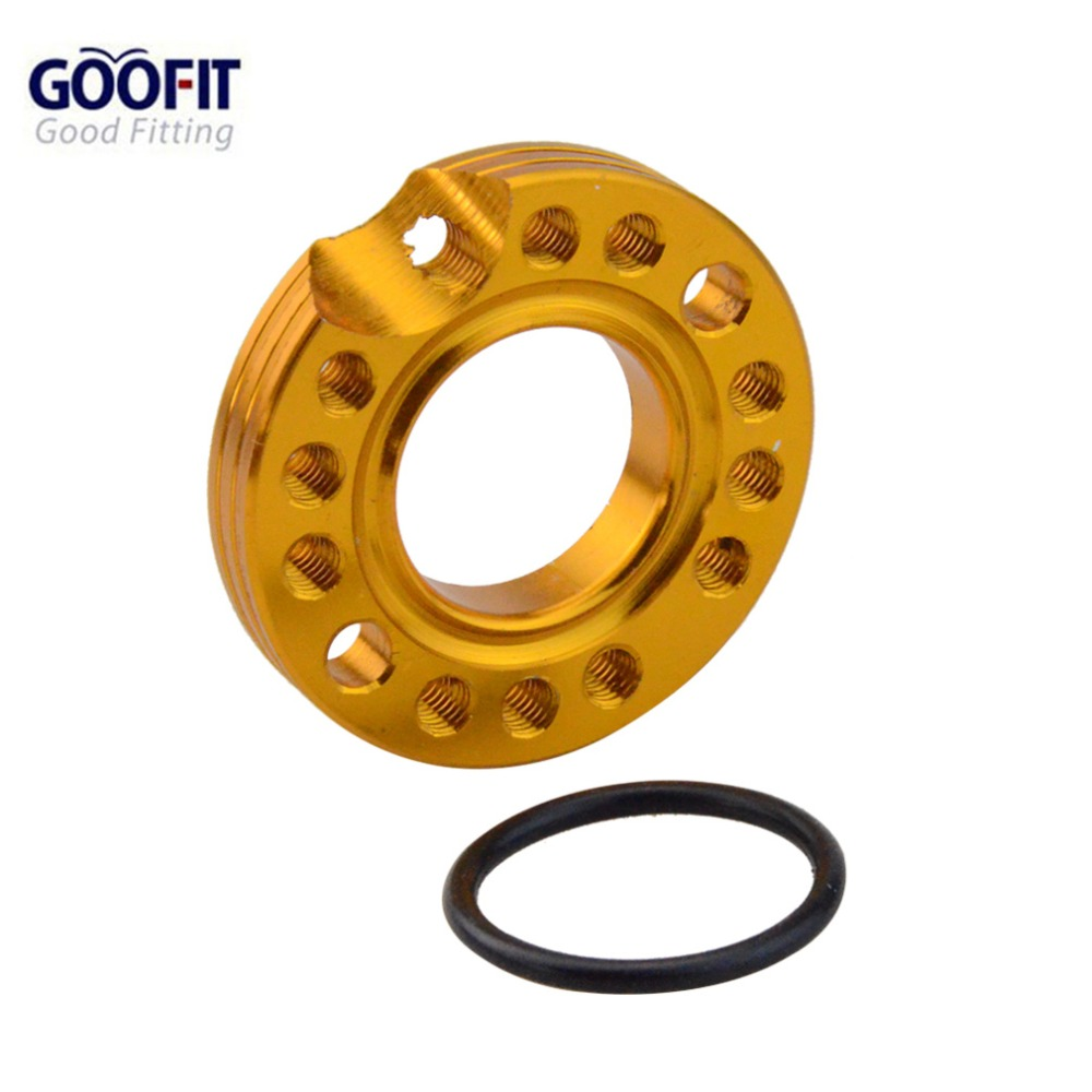 GOOFIT 28mm Carburador Espaçador Colector IntakeSpinner Adapater Placa para 50cc 70cc 90cc 125cc Taotao Sunl Roketa ATV NST A012-620