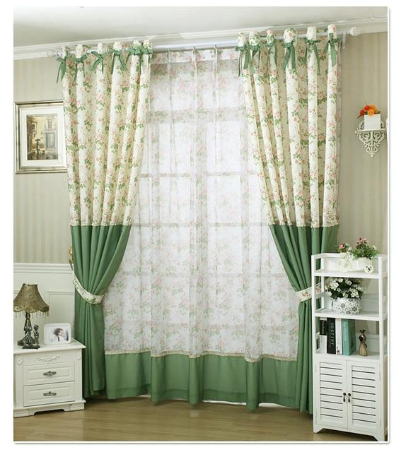 kleine pure verse landelijk gordijnen ramen koreaanse product maatwerk doek voor woonkamer eetkamer stof 1 st