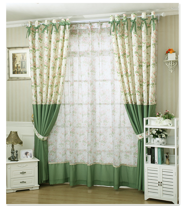 Small Pure Fresh Rural Curtains Windows Korean Product Customization Cloth For Living Dining Fabric 1pc Curtain Tulle In From Home Garden