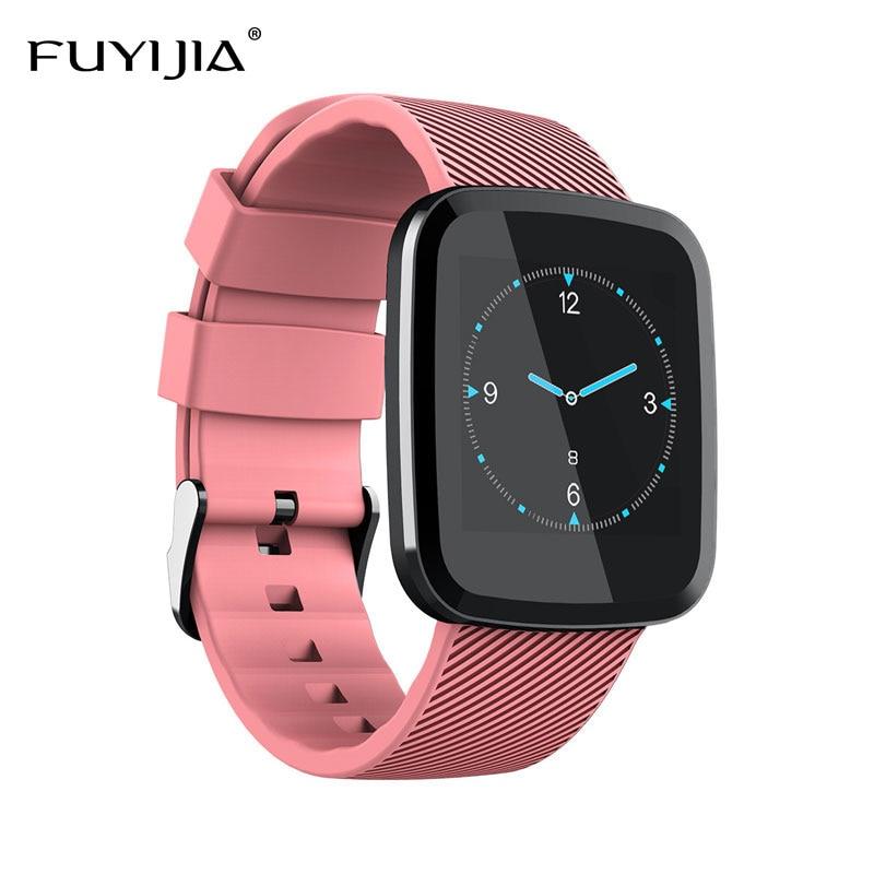 FUYIJIA Nouveau Bluetooth montre connectée Femme montre pour homme Sport Féminin montre résistante à l'eau Sommeil Surveillance de la Fréquence Cardiaque montre femme
