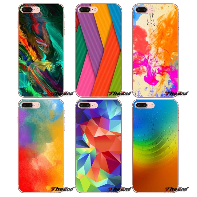 pastel colours rainbow wallpaper soft case for samsung galaxy s2 s3