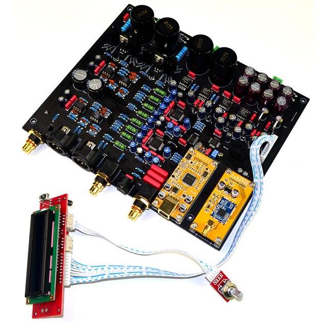 CSR8675 Bluetooth 5.0 AK4497EQ*2 AK4118 DAC decoder support APTX HD DSD Coaxial fiber USB Bluetooth Input