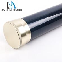 Maximumcatch Fishing Rod Case Carbon Fiber Fly Fishing Rod Tube with Aluminum Cap for Any 9-10 ft, 4-piece Rod.