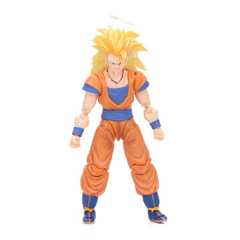 Caixa 11.5-17cm super saiyan son goku vegeto troncos pvc figuras de ação dragon ball z coleção modelo bonecas brinquedos estatueta