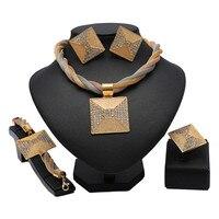 2019 nigerian wedding woman accessories jewelry set Brand Dubai Gold Jewelry Set Wholesale italian jewelry sets for women