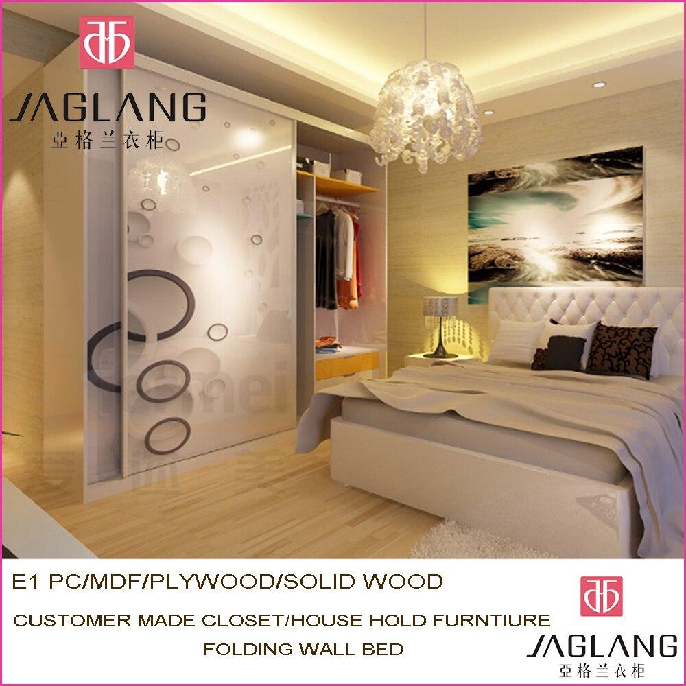 custom made solid wood sliding door closet hotel furniture ...