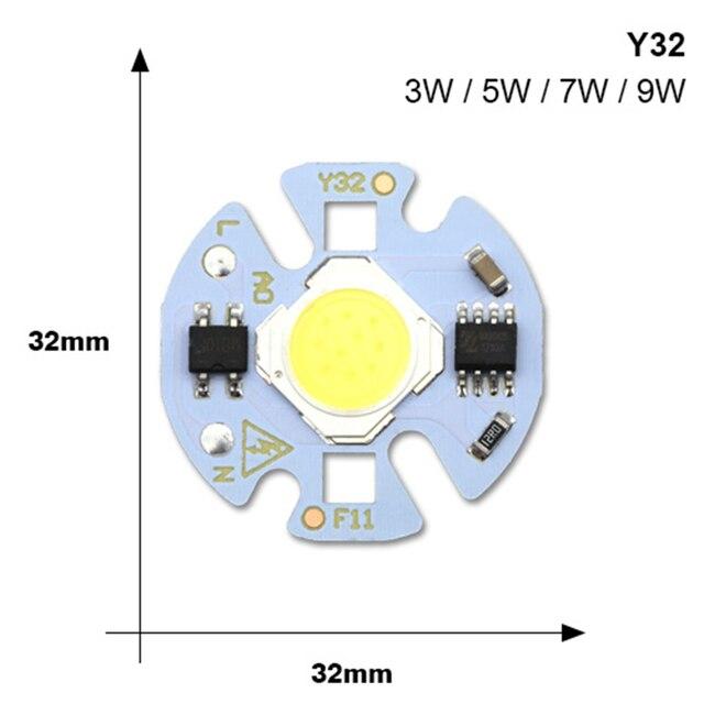 COB LED Lamp Chip 220V Smart IC LED Bulb Flood Light 3