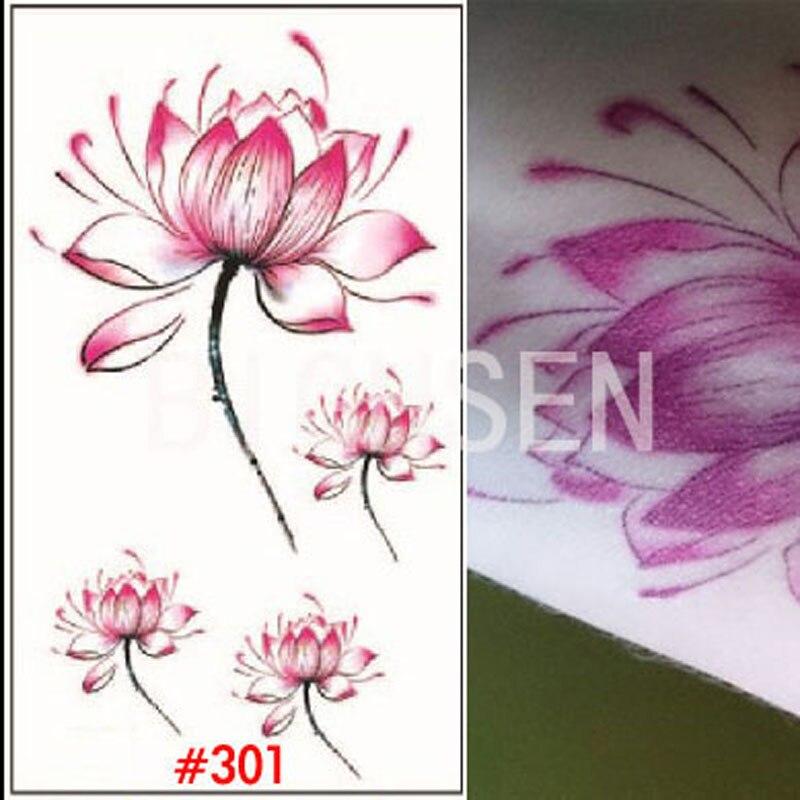 1 sheet flesh tatoo arm sleeve white tattoo temporary tattoo black tattoo paper lotus flower. Black Bedroom Furniture Sets. Home Design Ideas