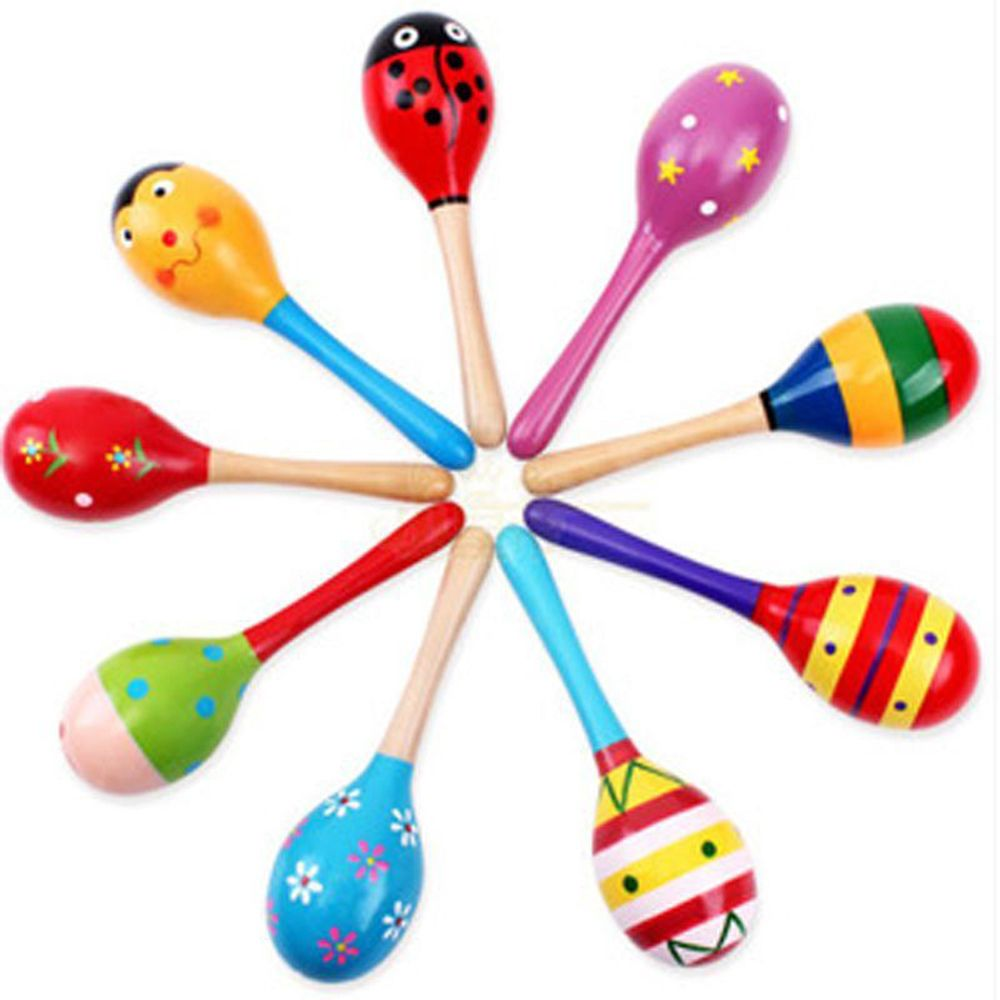 1 PC Kid Toys New Fashion Colorful Wooden Musical Instrument   Toys For Baby Children Rattle Shaker Toy Party Accessories Gifts