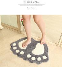 Fashion Cute Footprints Big Feet Bath Mat Door Mats On Foot Pad Rug Household itemst at the door mat carpet floor все цены