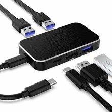 USB-C Para HDMI Tipo C Hub USB Hub C 5 em 1 USB com 4 k HDMI 60 hz