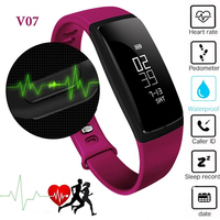 New V07 OLED Smart Watch Wristband Heart Rate Monitor Blood Pressure Waterproof Bluetooth Sport Smartband For