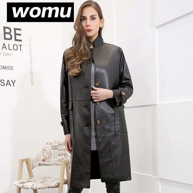 2017 autumn and winter fashion genuine leather clothing female medium-long real sheepskin women overcoat