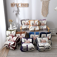 soft winter AB side cashmere flannel full Queen King Twin blanket pure color Single double bed thickened warm blankets best gift