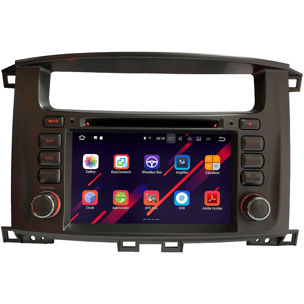 2DIN 7 Android 7.1.2 Quad Core 2GB RAM 16GB ROM car multimedia dvd player For Toyota Lander Cruiser 100