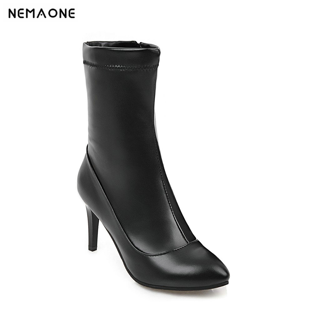 2019The super high heels  for ladies and knees 8cm spring and autumn are suitable for ladies' shoes for party and leisure