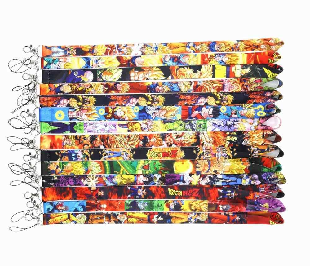 Nova 1pc Dragon Ball Anime Ação Dos Desenhos Animados Figuras Super Saiyan Goku Chaves Cordão ID fita para o Pescoço de Telefone Celular coleção Toy Presente
