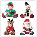 Рождественский подарок 2016 горячей ребенка комбинезон Санта-Клауса одежду детей комбинезон новорожденных мальчиков девочек комбинезон детей костюм