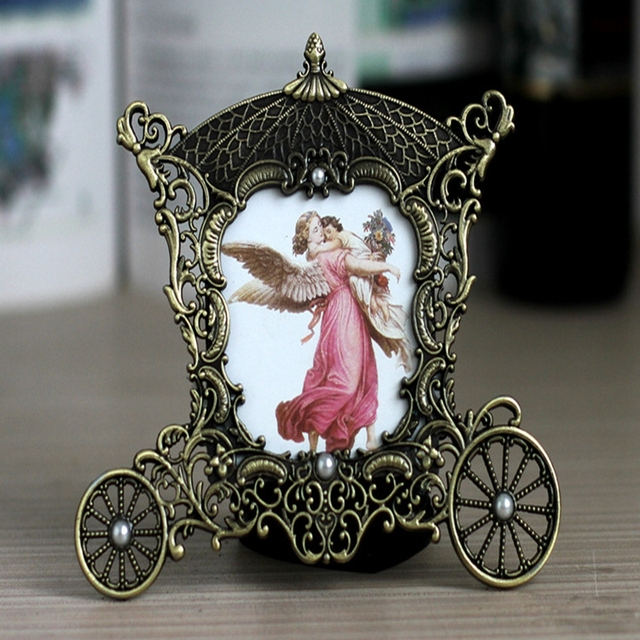 3 inch retro copper metal frame horses baby mini photo frame gifts ornaments home decor - Mini Picture Frame Ornaments