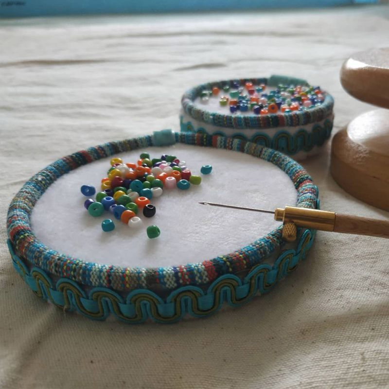 The Bead Wrangler Wooden Fabric Beading Mat Board Tray Beads Organizer For Jewelry DIY Sewing Embroidery Needlecraft Stitchwork