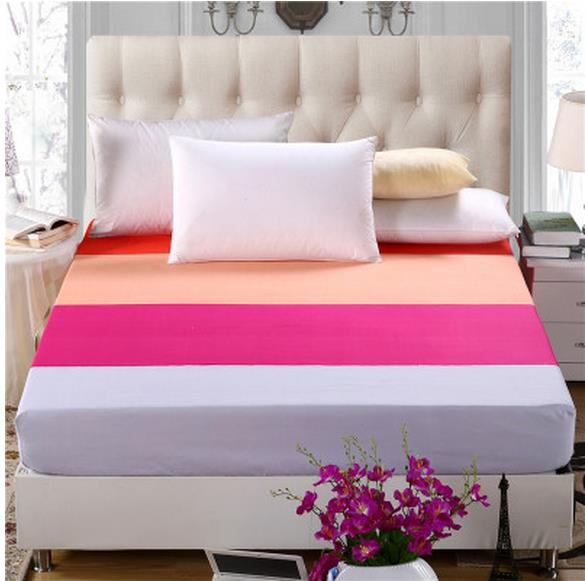 The fitted sheet mattress cover double 150/180 m m Non-slip simmons single pure color protection bedspread free shipping