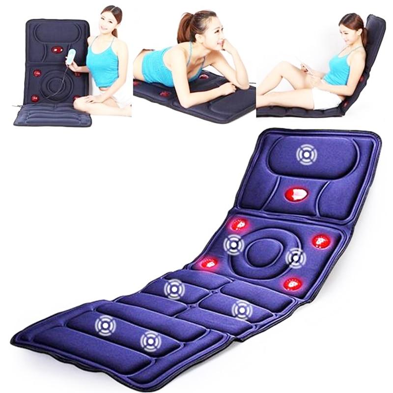 Vibration heating Massage Cushion cervical neck massage Acupressure cushion Far Infrared mattress massage mat 110-240V vibration car chair massage cushion with far infrared heating for sale