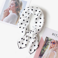 Silk Scarf Women 70*70cm 2018 Spring New Small Point Decorative Scarf Small Squares Head Scarf Bag Decorative Scarves
