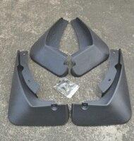 4PCS Of Black Plastic Car Front Rear Fender Mud Flaps Mudguards Splash Guards Set for Ford Fiesta 2009 2010 2012