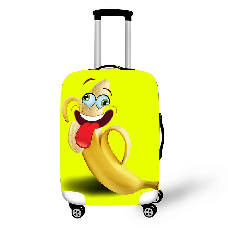 Cartoon Banana Trolley Suitcase Protective Cover 18-28 Inch Elastic Luggage Cover Carry On Baggage Case Bag Travel Accessories