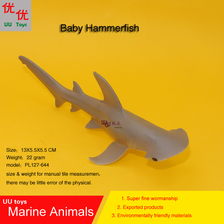 Hot toys Baby Hammerhead shark Simulation model Marine Animals Sea Animal kids gift educational props mr froger carcharodon megalodon model giant tooth shark sphyrna aquatic creatures wild animals zoo modeling plastic sea lift toy