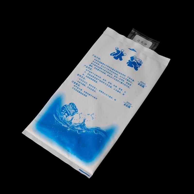 10PCS Reusable Plastic Cooler Bag For Lunch Box Food Storage Ice Gel Packs Cubes Ice Bag