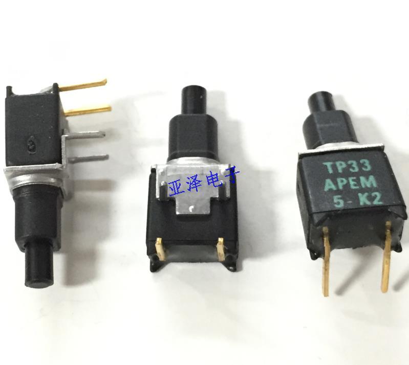 10 PCS/LOT APEM France TP33W008000 petit interrupteur de test interrupteur de réinitialisation interrupteur à bascule
