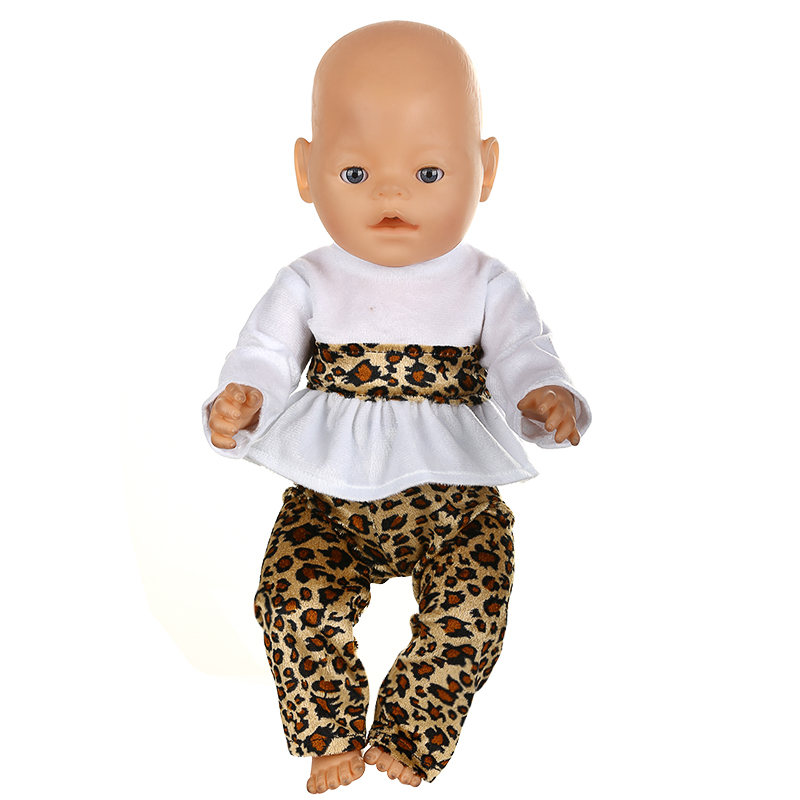 Doll Accessories Baby Born Doll Clothes Shirt Leopard