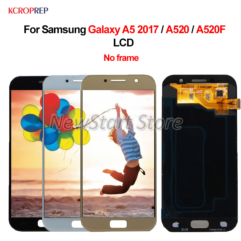"""For Samsung Galaxy A5 2017 A520 LCD Display Touch Screen Assembly 5.2"""" For Samsung A520 A520F SM-A520F lcd No Frame 100% Tested"""
