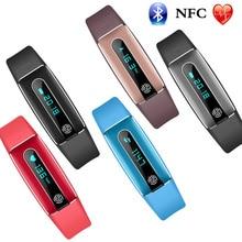 Горячие Продажи NFC Bluetooth часы HB02 мульти-langua сна Мониторинг здоровья мониторинга сердечного ритма водонепроницаемый спортивный смарт-браслет