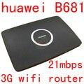 Разблокирована huawei B681 3 Г wi-fi Маршрутизатор HSPA 21 Мбит 3 Г wi-fi dongle UMTS HSPA + WCDMA Слот Sim-карты телефон Wifi PK b593 B683 b970 b890