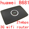 Unlocked huawei B681 3G wifi Router HSPA  21Mbps 3G wifi dongle UMTS HSPA+ WCDMA SIM Card Slot phone Wifi PK b970 B683 b593 b890