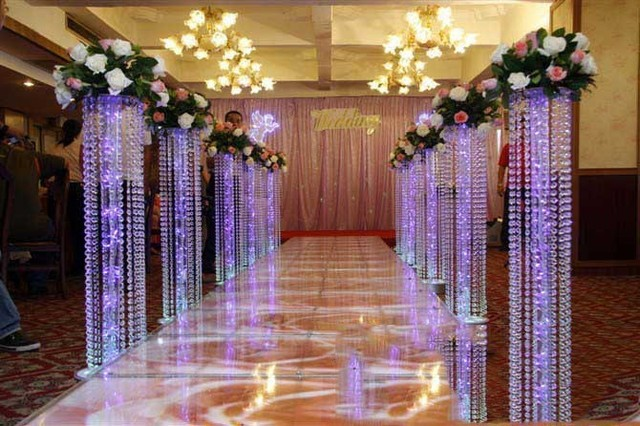 150cm Fashion Luxury Acrylic Crystal Wedding Road Lead Centerpiece Event Party Decoration Backdrop