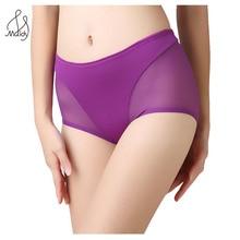 Female Underwear Sexy Breathable Mesh Briefs Women Cotton Panty Big Size L XL Maidy