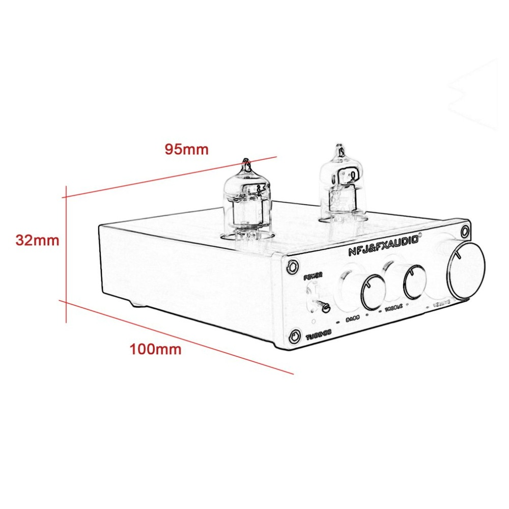 FX-AUDIO Tube-03 Fever Bile Preamp 6j1 Tube Hifi Preamplifier Preamp Audio  Hi-Fi Stereo Pre-Amplifier Treble & Bass Control