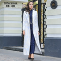 New Trench Long Coat Turn Down Collar Long Sleeve Women Overcoat Elegant High Quality Printed Slim Fall Winter Jackets Outwear