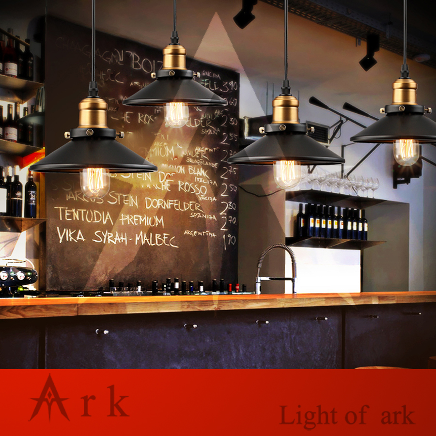 ARK LIGHT Vintage reminisced BLACK IRON pendant light american style classical pendant light DINNING ROOM COFFEE