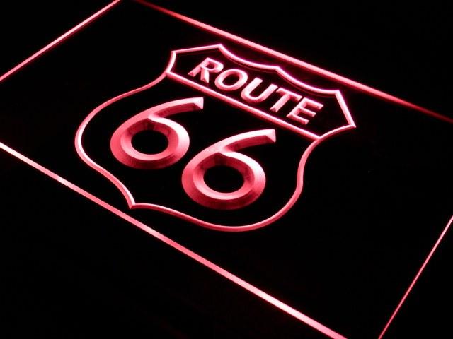 Décor lumineux Route 66  LED type Néon