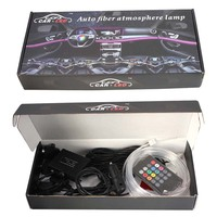4pcs 8 Color LED Car Interior Lighting Kit Car Styling Interior Decoration Atmosphere Light And Wireless