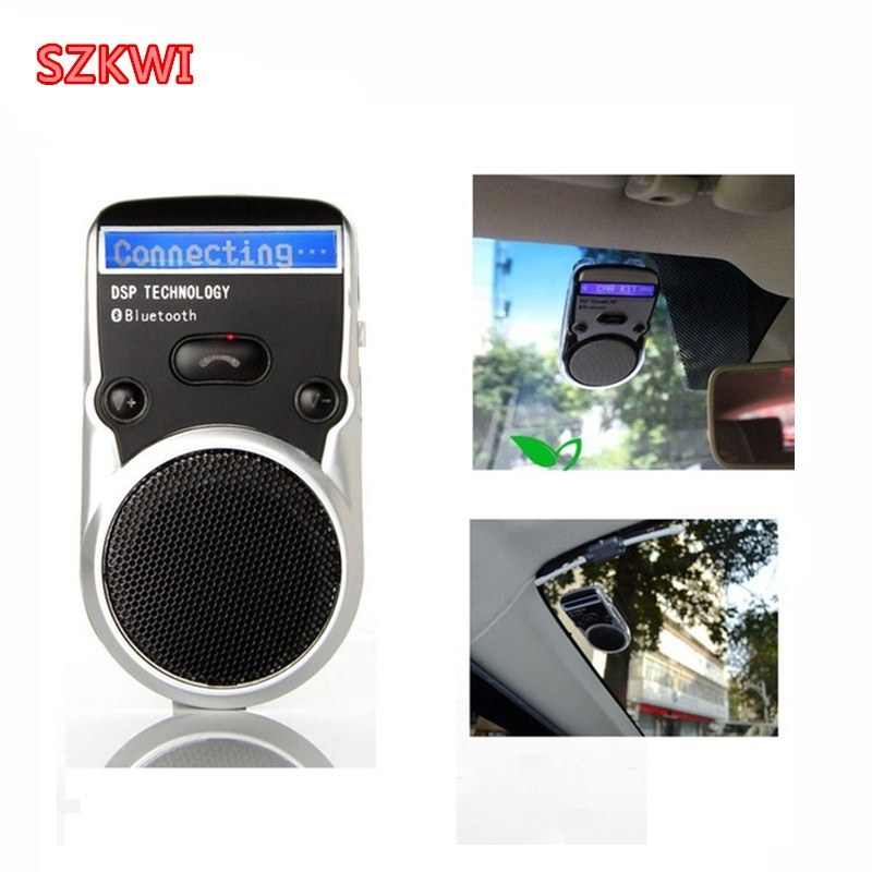 цена на Solar Powered Speakerphone Wireless Bluetooth Handsfree LCD display Car Kit For Mobile Phone Hands Free Car For Iphone Android