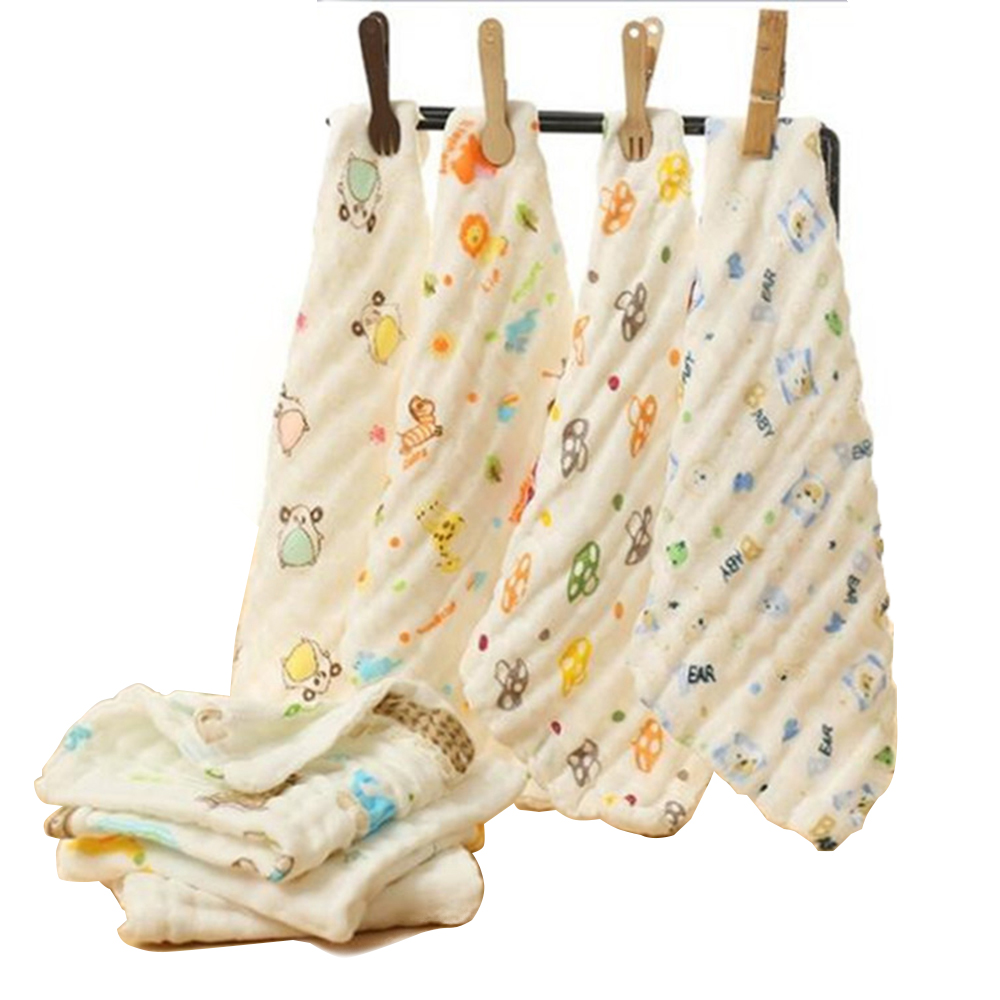 Disciplined 10pcs/set Soft Bibs Cotton Double Gauze Checkered Towel Baby Daily Dedicated Feeding Face Bright Colors Small Square Wash