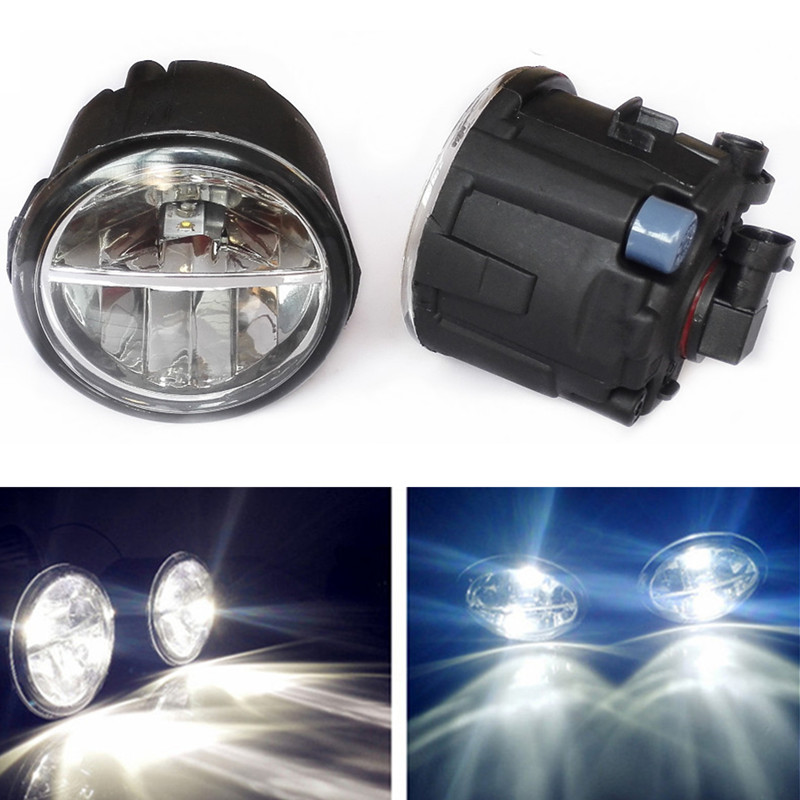 For NISSAN X-Trail T31 Vampira Versa Lafesta Presage TIIDA 2004-2014 Car styling LED Fog Lights 10W DRL fog lamps 1set voennoplennye v shaxterske 31 07 2014