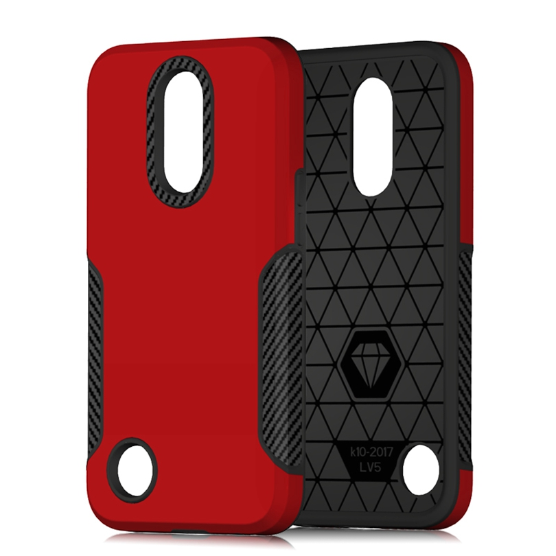 "For LG LV5 / K20 Plus / K10 2017 5.3"" Phone Case Silicone Cover For K20Plus Case Shockproof Hard Tough Rubber Hybrid Armor Case"