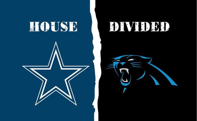 3548b6eb Dallas Cowboys vs Carolina Panthers House Divided Rivalry Flag 90x150cm  metal grommets