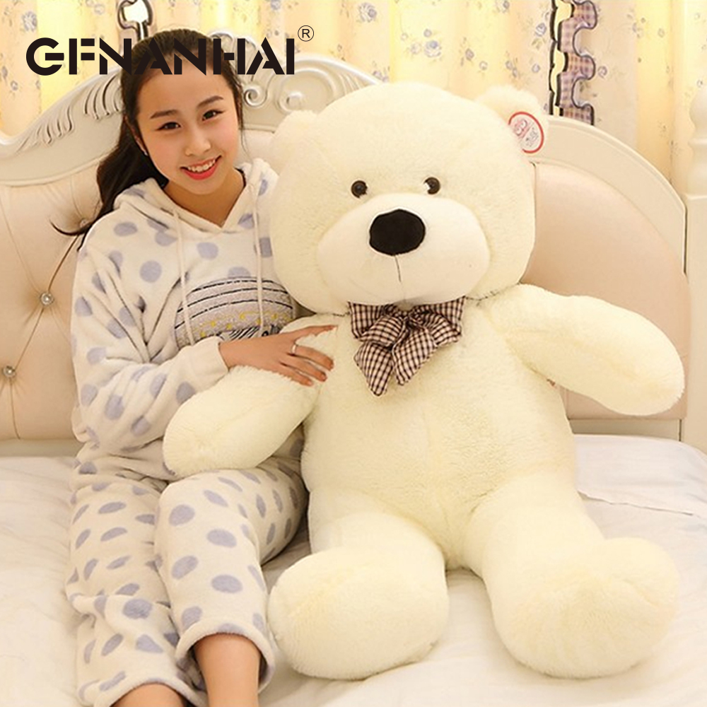 Image 4 - 1pc 80/100cm Cute Teddy bear plush toy stuffed soft bear animal plush pillow for kids girlfriend birthday Valentines giftStuffed & Plush Animals   -